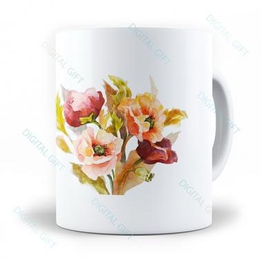Cană ceramică - Flori pictate 01 [0]