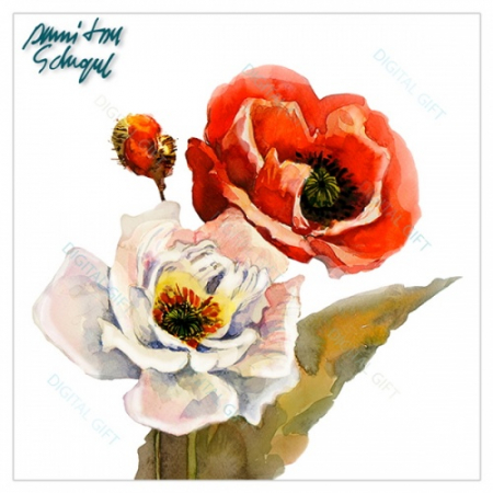Cană ceramică - Flori pictate 021