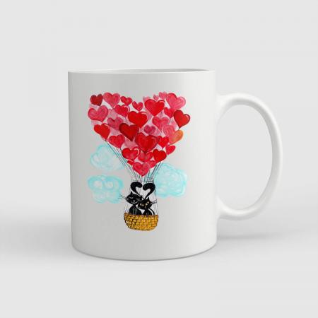 Cană ceramică - Balonul dragostei [0]
