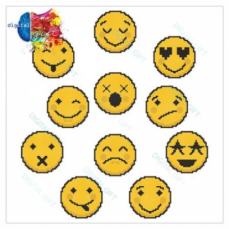 Cană ceramică - Emoji pixel [1]