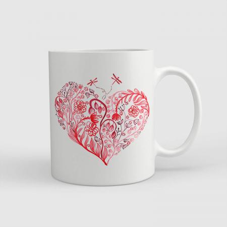 Cană ceramică - Inima înflorind [0]