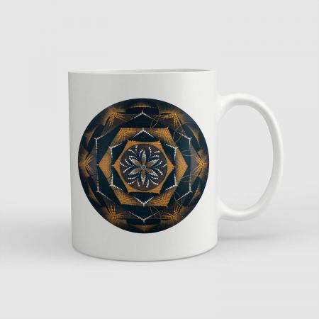 """Cană ceramică - Mandala """"Despre lumină"""" [0]"""