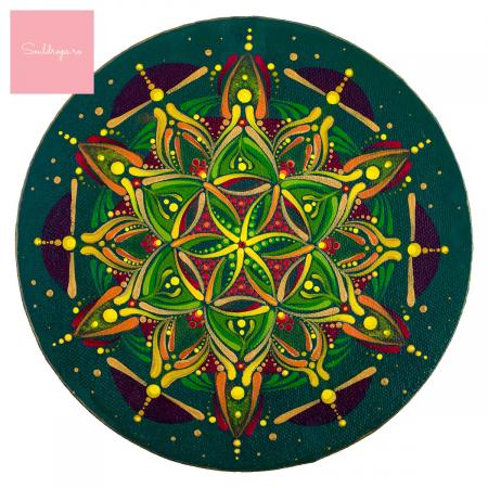 """Cană ceramică - Mandala """"Inimă sacră"""" #02 [1]"""