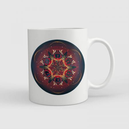 """Cană ceramică - Mandala """"Muladhara"""" [0]"""
