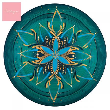 "Cană ceramică - Mandala Vishuddha"" [1]"