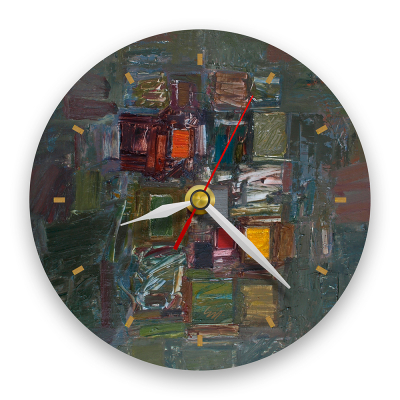 Ceas de perete - Abstract, amalgam multicolor0