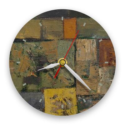 Ceas de perete - Abstract, labirint multicolor0