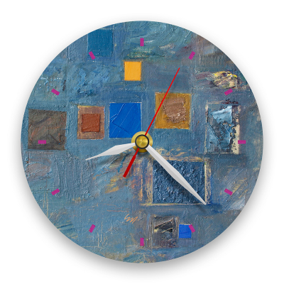 Ceas de perete - Abstract, ritm pe albastru0