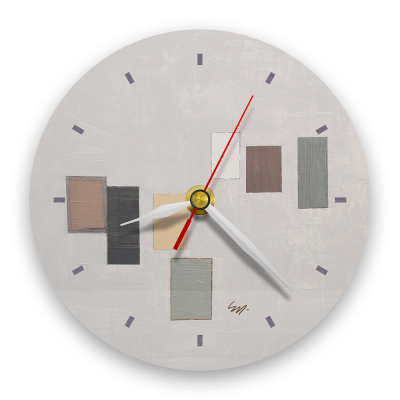 Ceas de perete - Abstract, ritm pe gri0