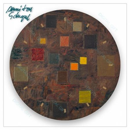 Ceas de perete - Abstract, ritm pe maro1
