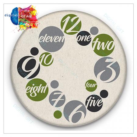 Ceas de perete - Cifre și litere2