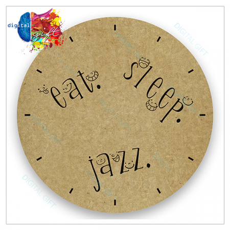 Ceas de perete - Eat, Sleep, Jazz2