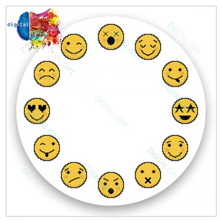Ceas de perete - Emoji2