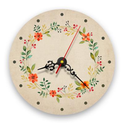 Ceas de perete - Flori de câmp retro0