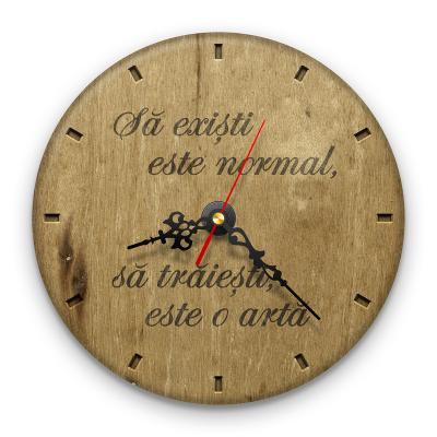 Ceas de perete - Să trăiești e o artă0