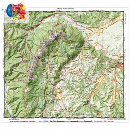 Hartă și broșură - Trasee turistice. Microregiunea Bucegi2