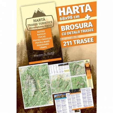 Hartă și broșură - Trasee turistice. Microregiunea Bucegi0