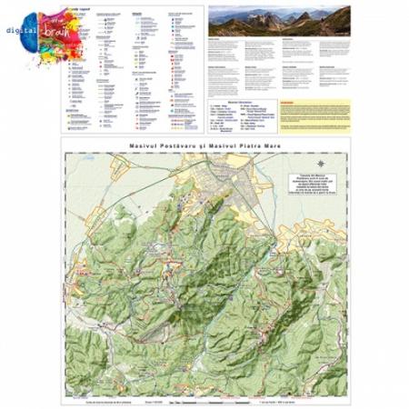Hartă și broșură - Trasee turistice. Microregiunea Bucegi1