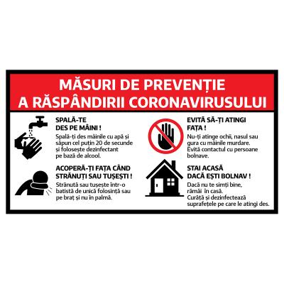 Pachet de stickere informative Covid-19, pentru unități comerciale [6]