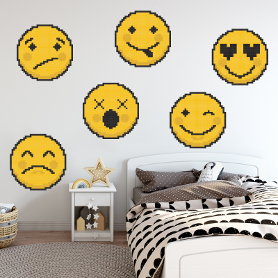 Pachet de stickere pentru perete - Emoji 010