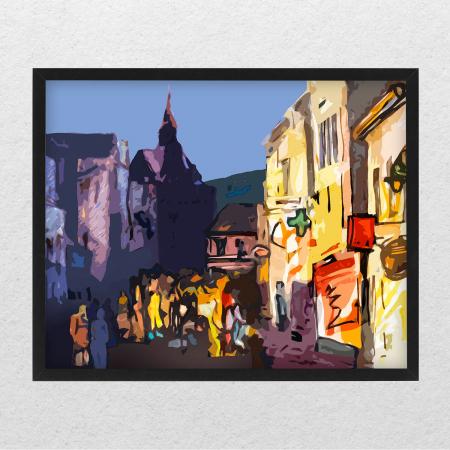 Poster abstract - La promenadă în Brașov [0]
