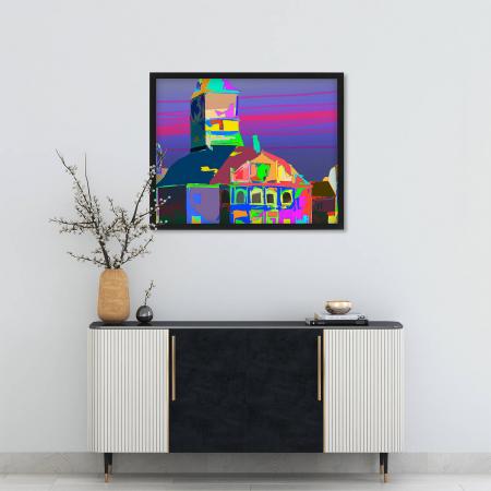 Poster abstract - Piața Sfatului în culori [1]