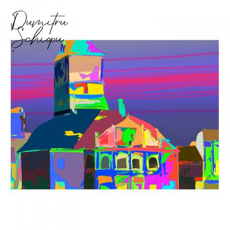 Poster abstract - Piața Sfatului în culori [2]