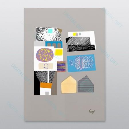 Poster - Brașov, compoziție abstractă 010