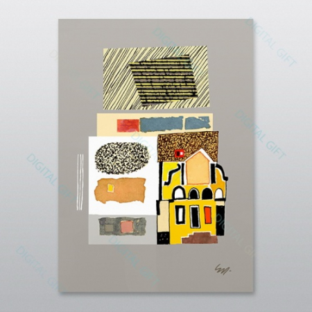Poster - Brașov, compoziție abstractă 020