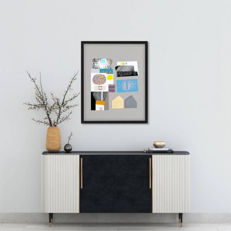 Poster - Brașov, compoziție abstractă 011