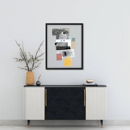 Poster - Brașov, compoziție abstractă 031