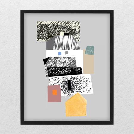 Poster - Brașov, compoziție abstractă 030