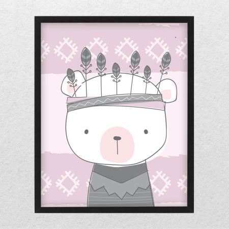 Poster decorativ copii - Ursulet boho style [0]