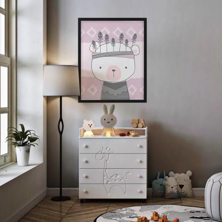Poster decorativ copii - Ursulet boho style [1]