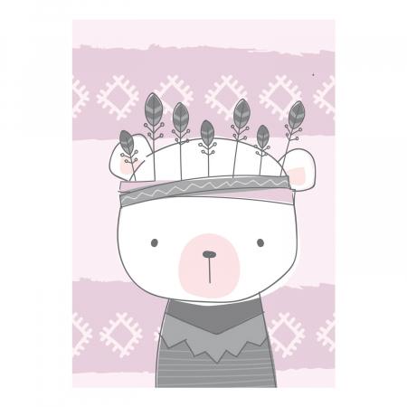 Poster decorativ copii - Ursulet boho style [2]