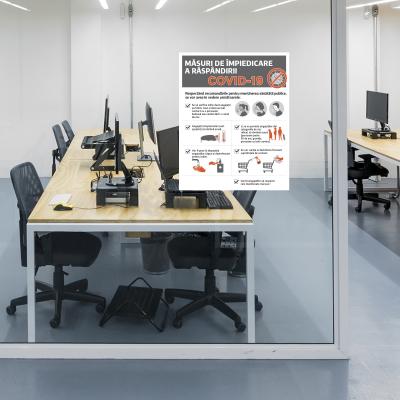 """Poster informativ Covid-19 - """"Măsuri de protecție pentru angajați""""1"""