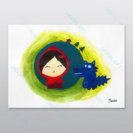 Poster - Scufița roșie0