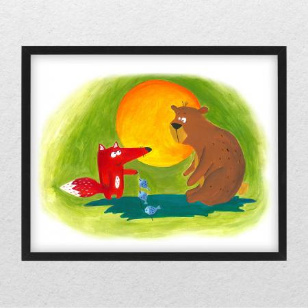 Poster decorativ pentru copii - Ursul pacalit [0]