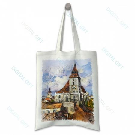 Sacoșă clasică - Ceasul Bisericii Negre, Brașov [0]