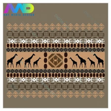 Sacoșă XXL - Motive africane2