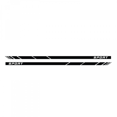 Set de stickere auto pentru portiere - Dungi sport [1]