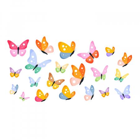 Set stickere auto - Fluturi multicolori #154 [3]