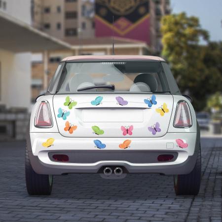 Set stickere auto - Fluturi multicolori #159 [0]