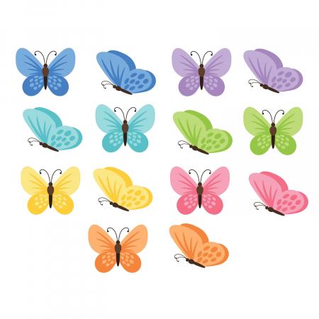 Set stickere auto - Fluturi multicolori #159 [2]