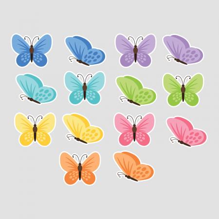 Set stickere auto - Fluturi multicolori #159 [1]