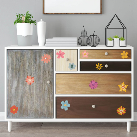 Set stickere pentru mobilă - Flori multicolore #161 [0]