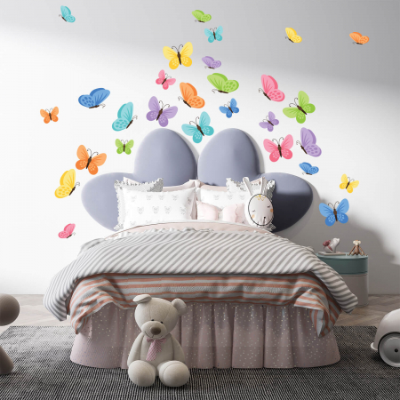 Set stickere pentru perete - Fluturi multicolori #159 [0]