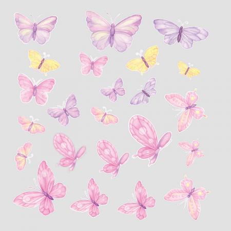 Set stickere pentru perete - Fluturi pictați [1]