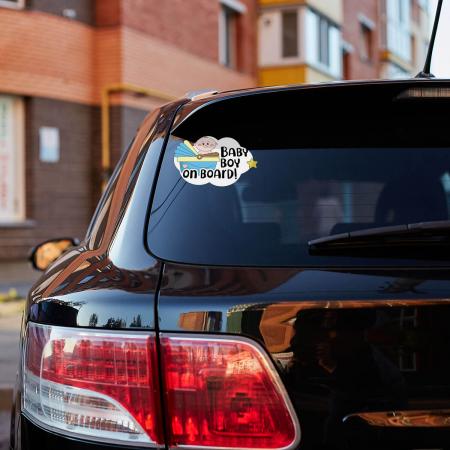 Sticker auto - Baby on board băiat [0]