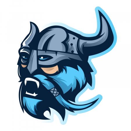 Sticker auto&moto - Blue viking #260 [1]
